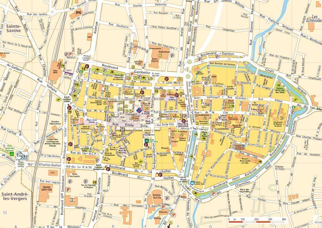 Plan 2016 de la ville de troyes aube champagne - Office du tourisme de troyes ...