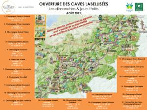 Carte des caves labélisées