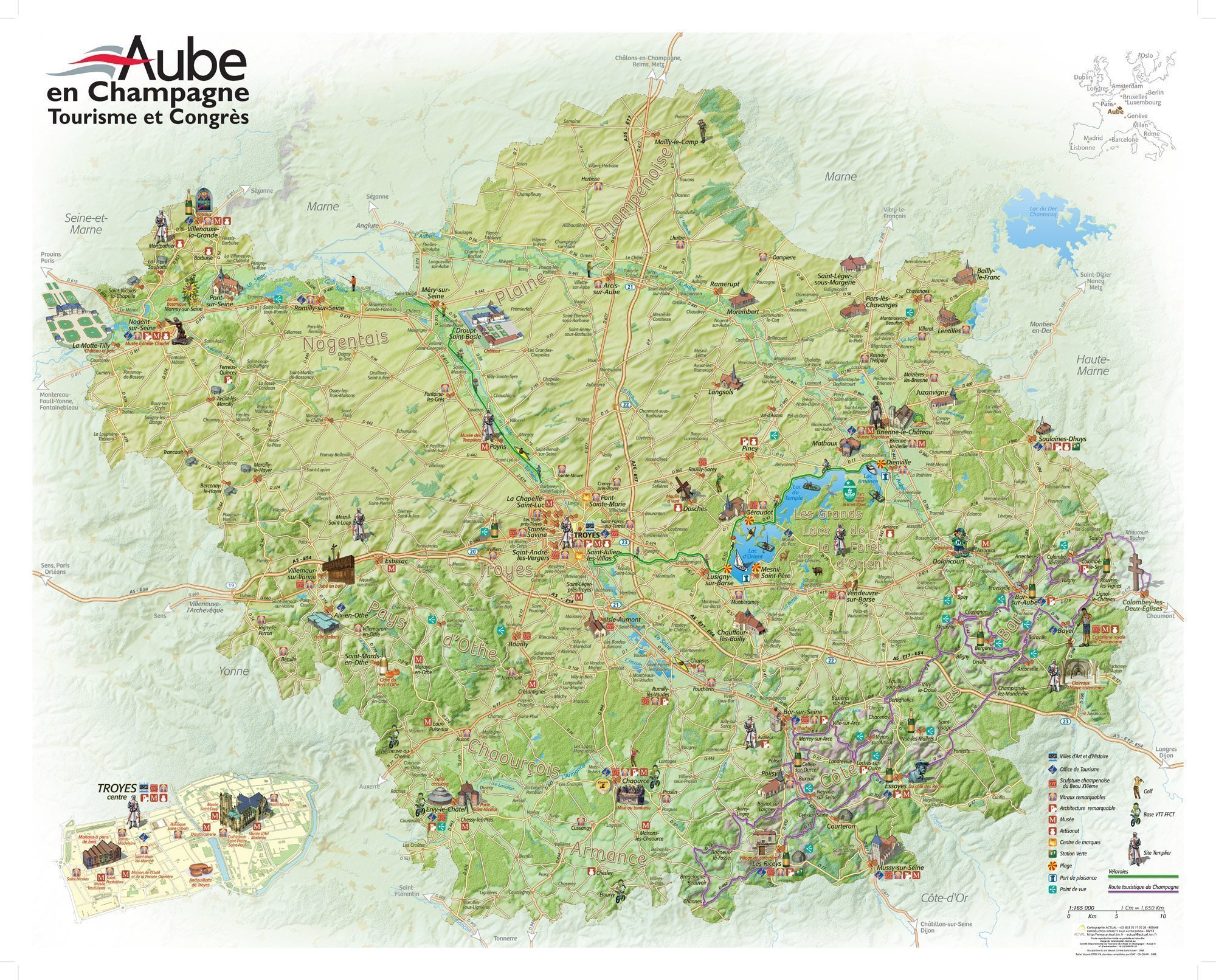 Touristic map <br> of Aube en Champagne