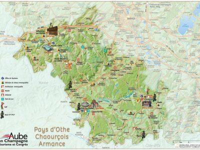 Carte touristique du Pays d'Othe - Armance - Chaourçois