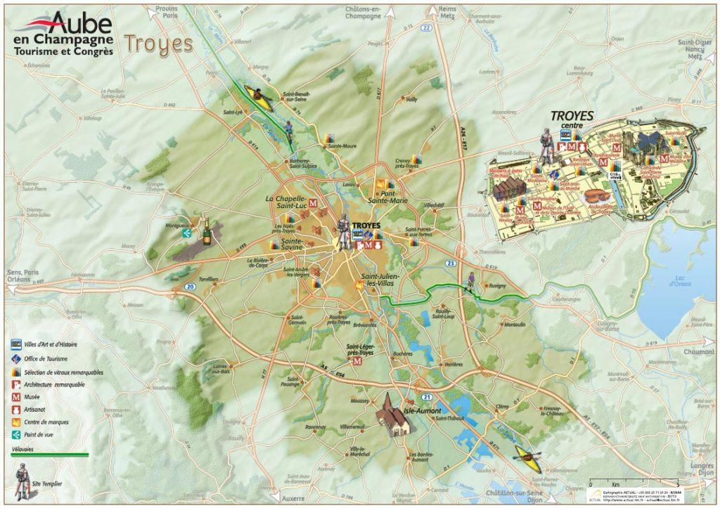 Carte De Troyes Et Son Agglomeration