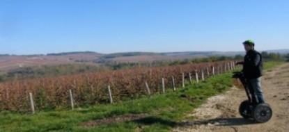 Segway dans les vignes