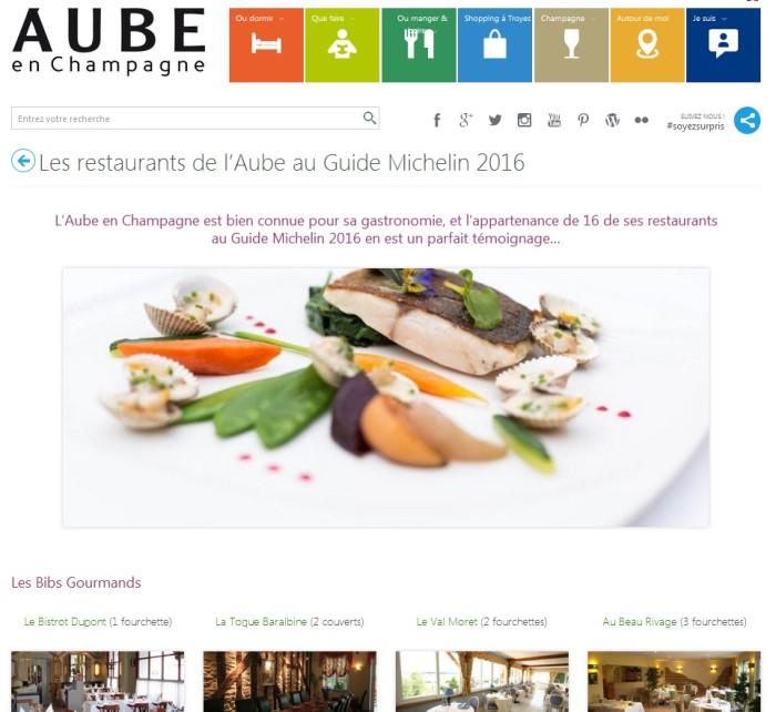 Restaurants de l'aube au guide michelin