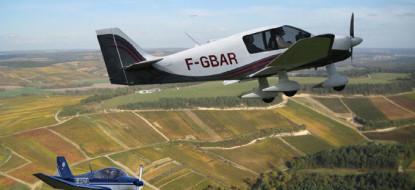 Survol de la Côte des Bar avec un pilote vigneron