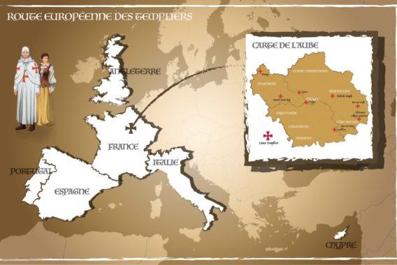 L'Aube templière en Europe