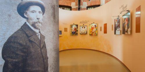 L'espace Renoir, une exposition permanente en hommage à la célèbre famille Renoir au centre du village dans les anciennes écuries du château Hériot / Essoyes / 10 Aube / Rég. Champagne Ardenne
