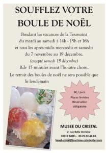 Soufflez votre boule de Noël au Musée du Cristal