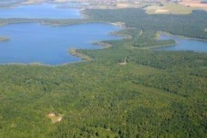 Vue aérienne du Parc Naturel Régional de la Forêt d'Orient