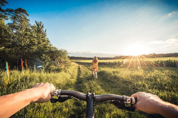 Vélo dans les vignes - crédit Le Bonheur des gens 2