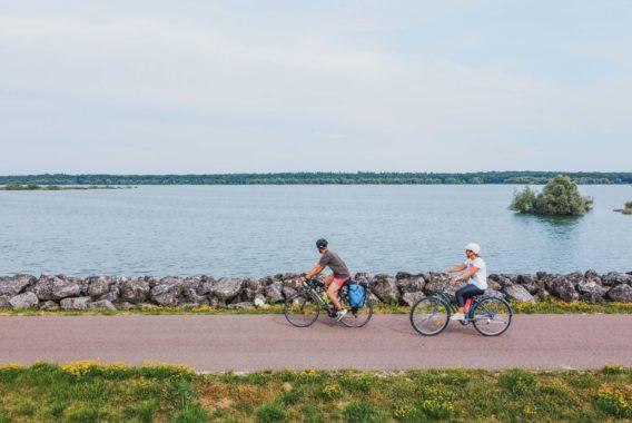 vélo voie des lacs