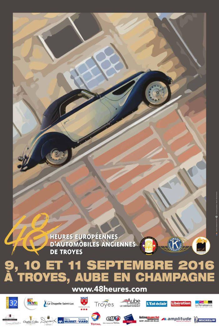 30ème anniversaire des 48 Heures Européennes d'Automobiles Anciennes de Troyes